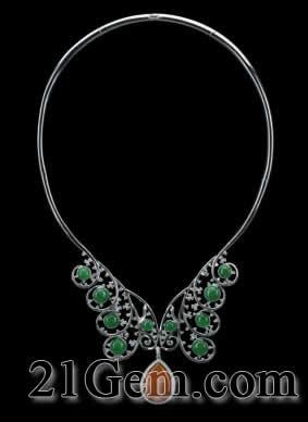 中国珠宝首饰设计首饰图——有色宝石组