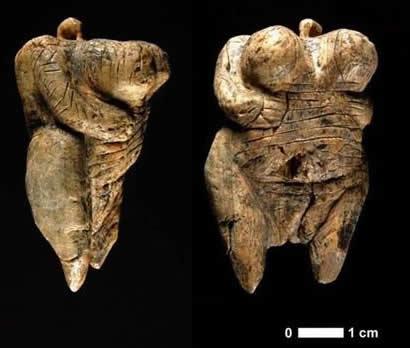 人类最古老裸体女性雕像出土 猛犸象牙制成