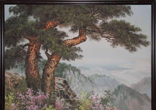 松树和山简笔画